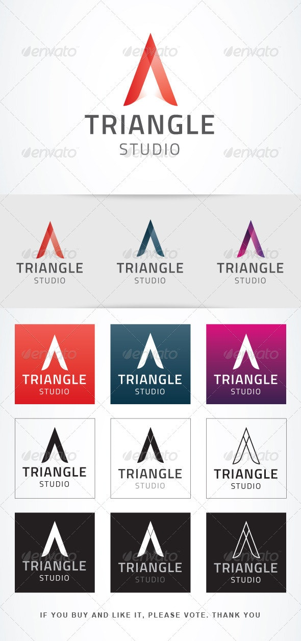 Triangle Studio Logo Templates - Vector Abstract