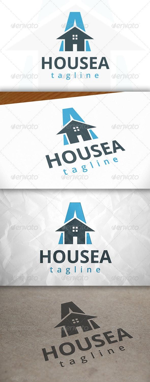 House A Letter Logo - Buildings Logo Templates