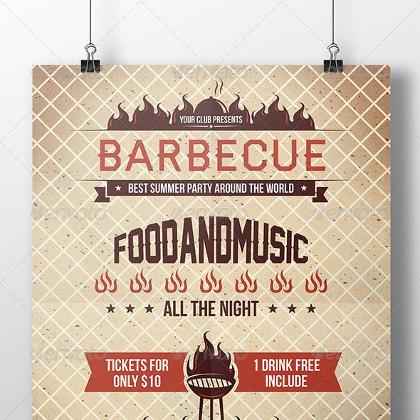 BBQ Hot Summer Party Flyer