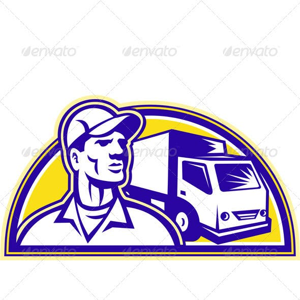 Removal Man Delivery Guy with Moving Van