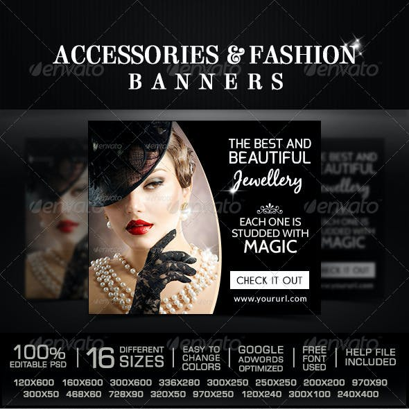Fashion Accessories Banners