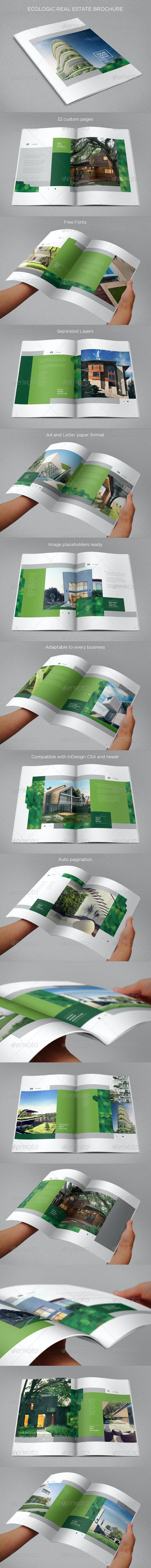 Ecologic Real Estate Brochure - Brochures Print Templates