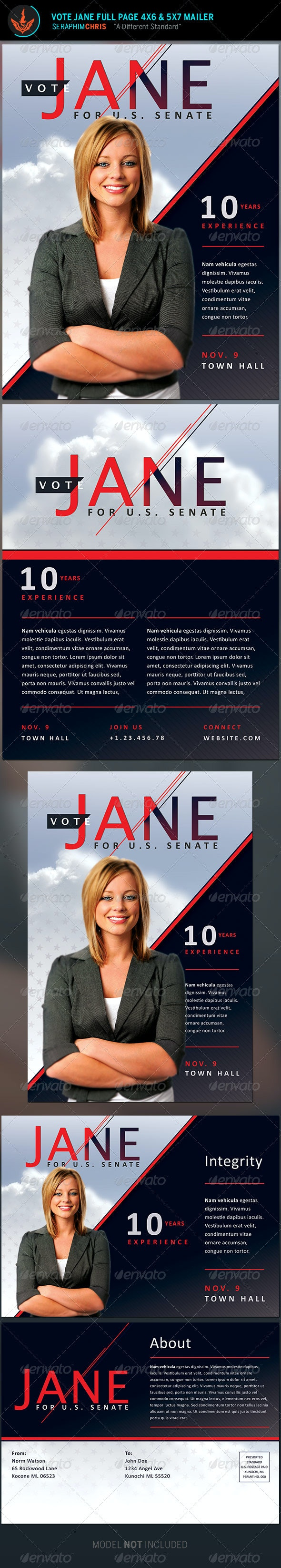 Jane Political Flyer and Mailer Template - Corporate Flyers