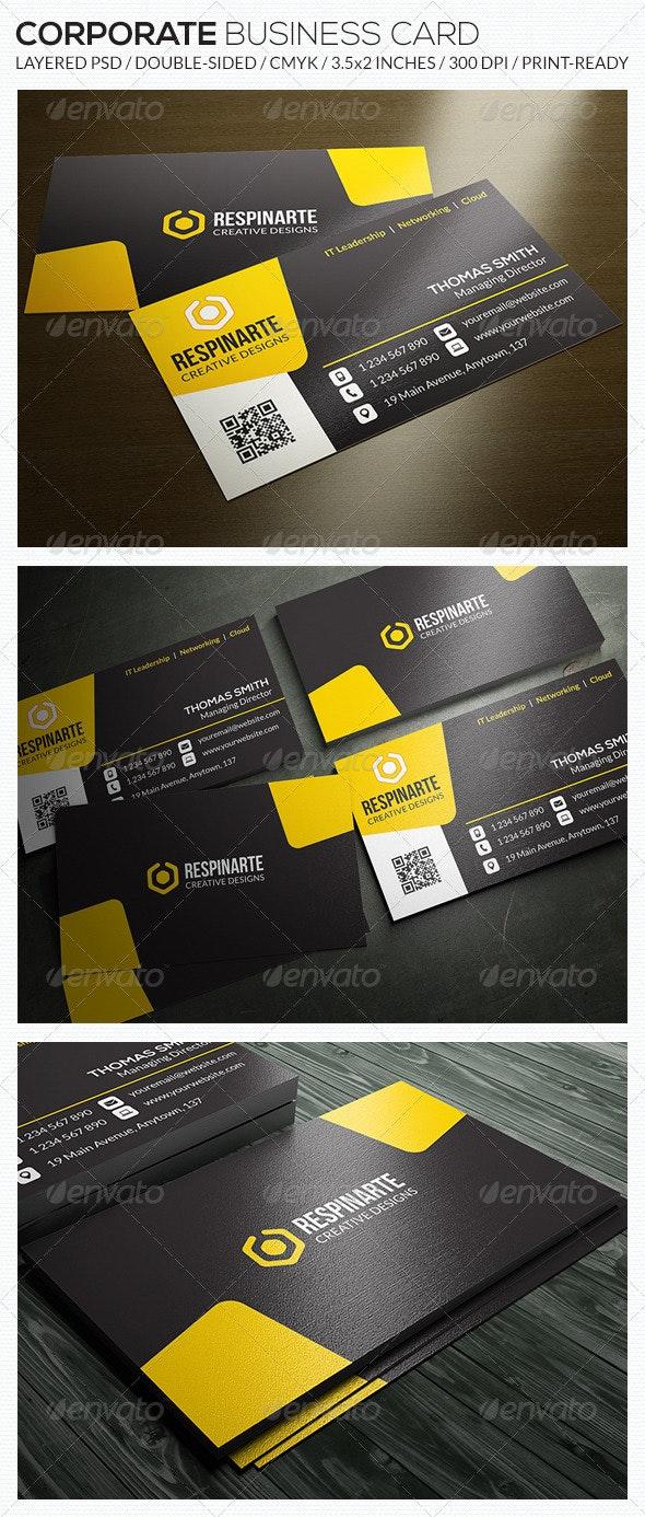 Corporate Business Card - RA53 - Corporate Business Cards