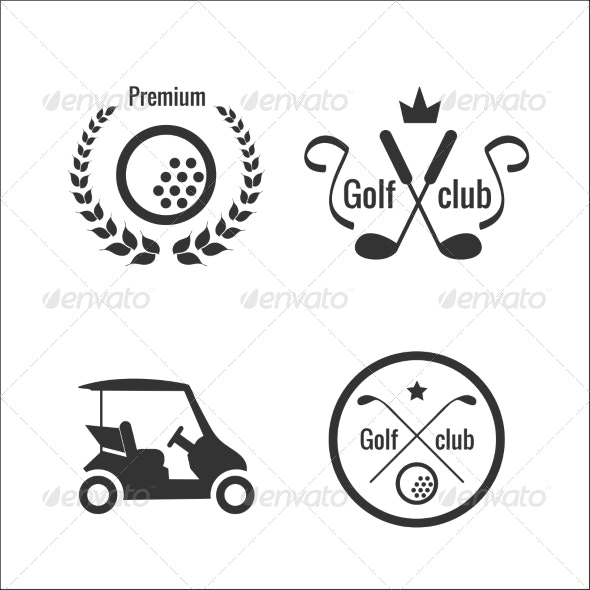 Golf Icons and Labels - Sports/Activity Conceptual