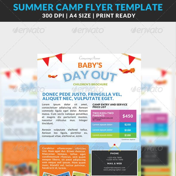 Summer Camp Kids Children Flyer