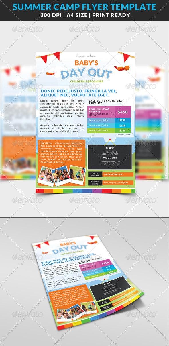 Summer Camp Kids Children Flyer  - Miscellaneous Events