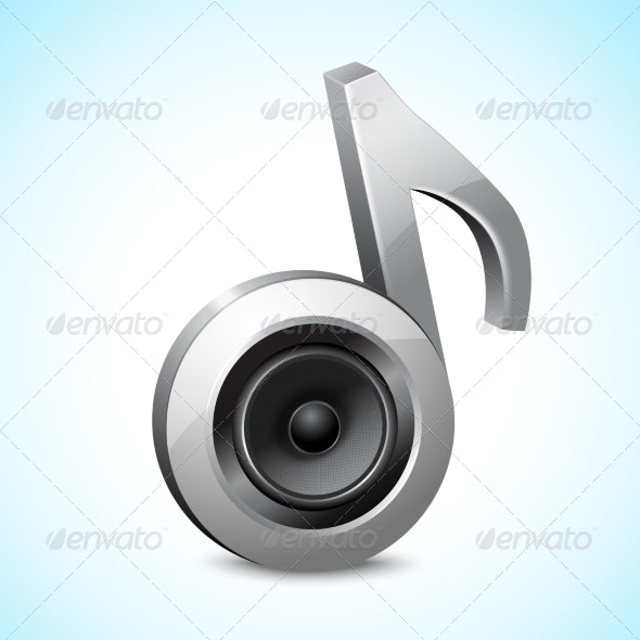 Audio Speaker Note - Miscellaneous Vectors