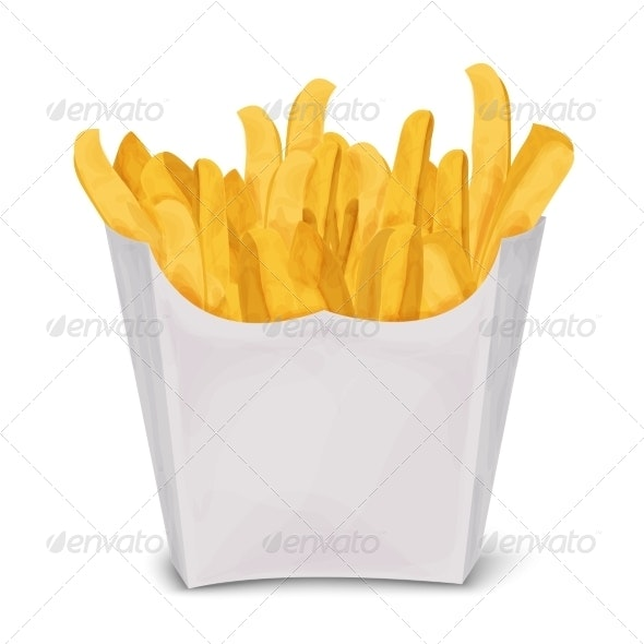 French Fries Isolated - Food Objects