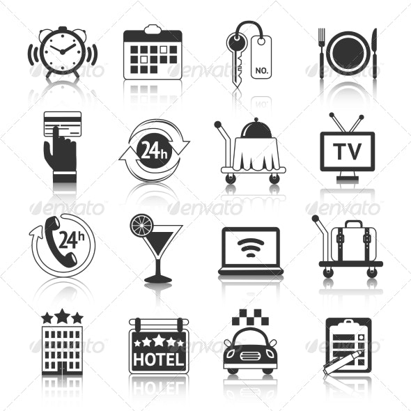 Hotel Icons Set - Miscellaneous Icons