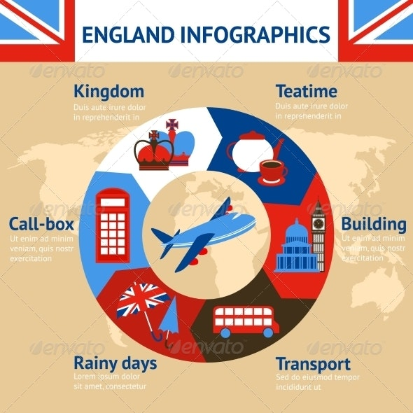 London England Infographics - Travel Conceptual