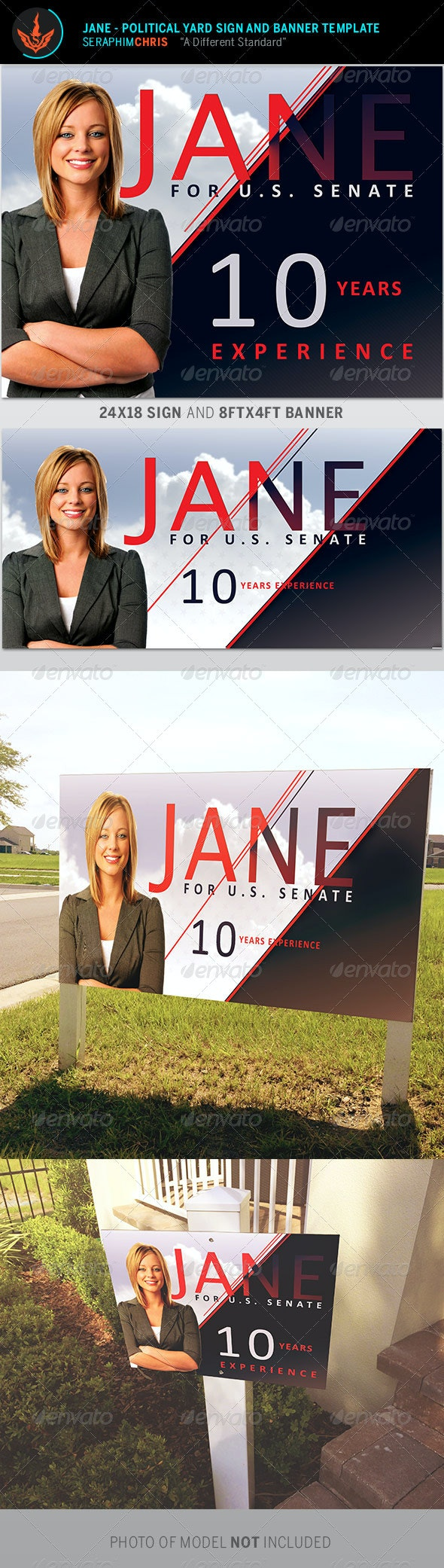 Jane Political Yard Sign and Banner Template