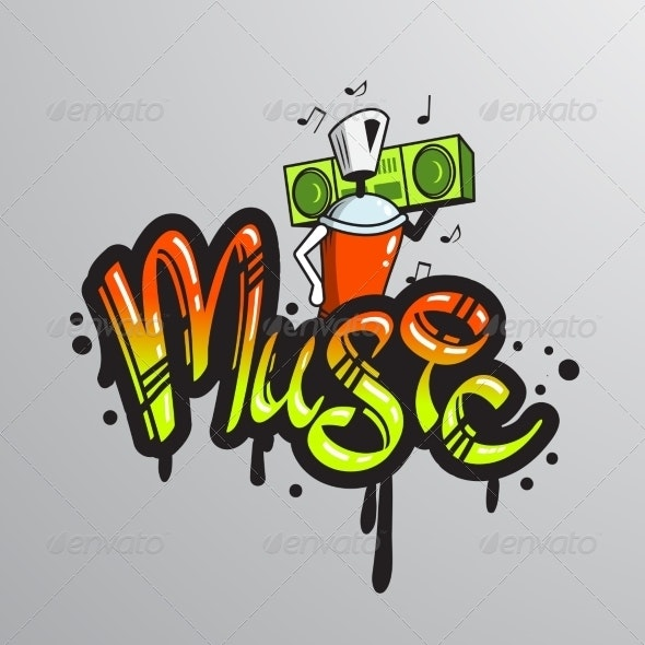 Graffiti word Character Print - Miscellaneous Vectors
