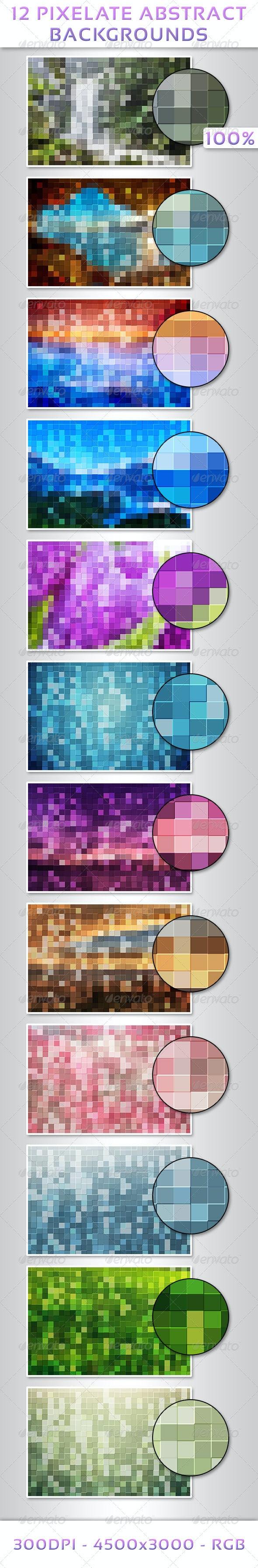 12 Pixelate Abstract Backgrounds - Abstract Backgrounds