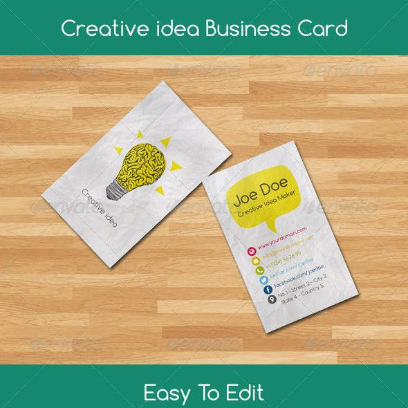 Creative Idea Business Card