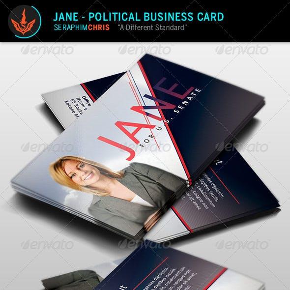 Jane - Political Business Card Template