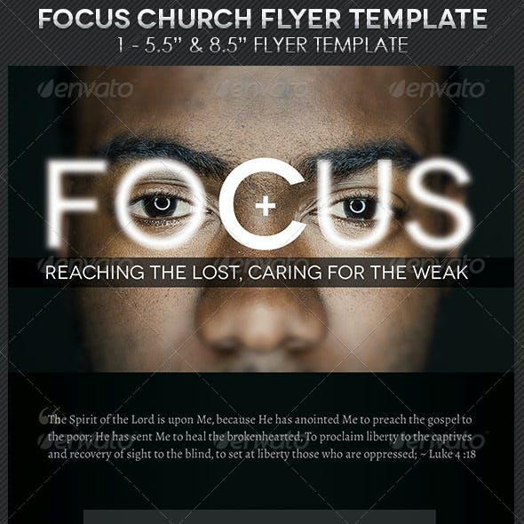 Focus Church Flyer Template