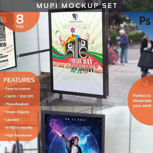 Mupi Mockup Set