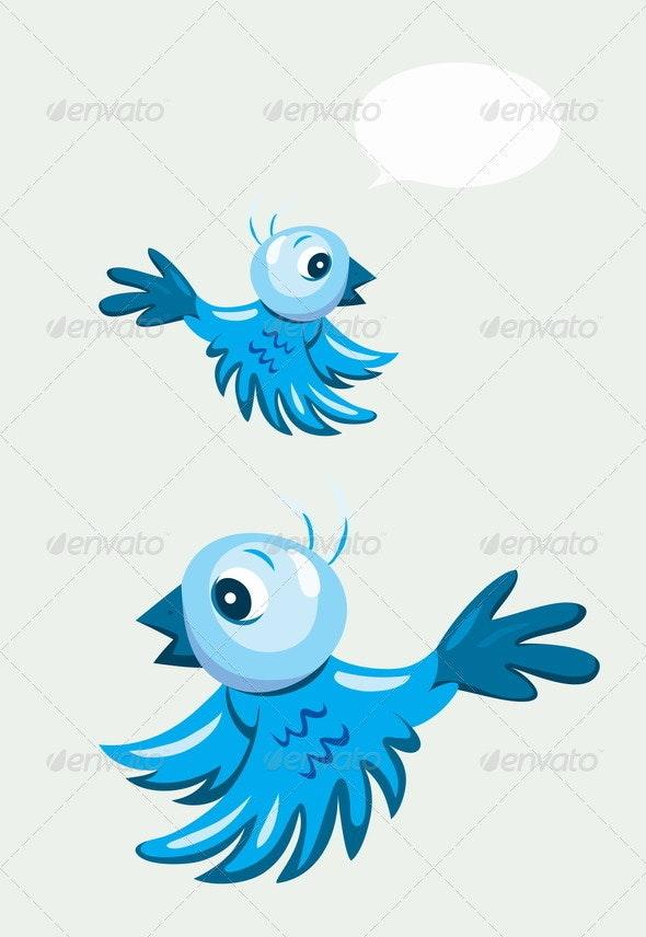 Cartoon Bird Flying - Animals Characters