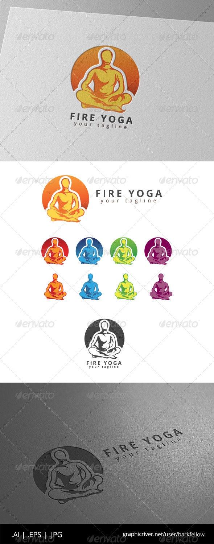 Fire Yoga Logo - Humans Logo Templates
