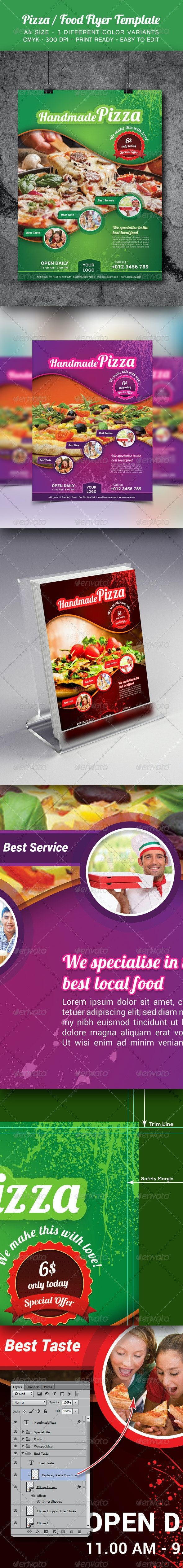Pizza / Food Flyer Template - Restaurant Flyers