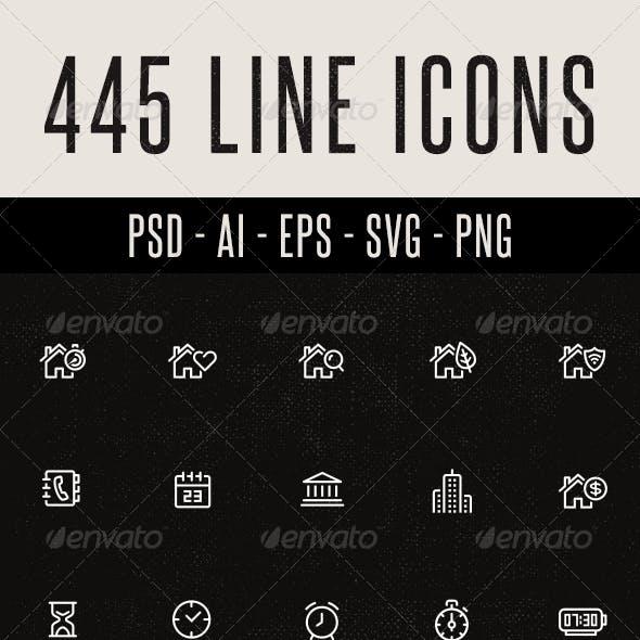 445 Line Icons