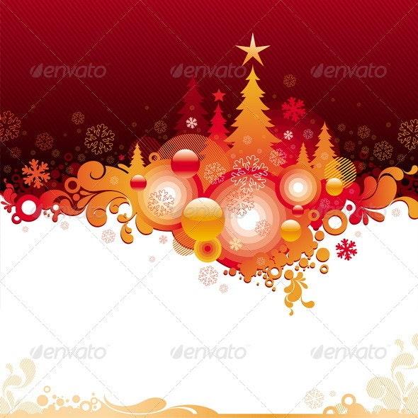 Decorative Christmas Background - Seasons/Holidays Conceptual