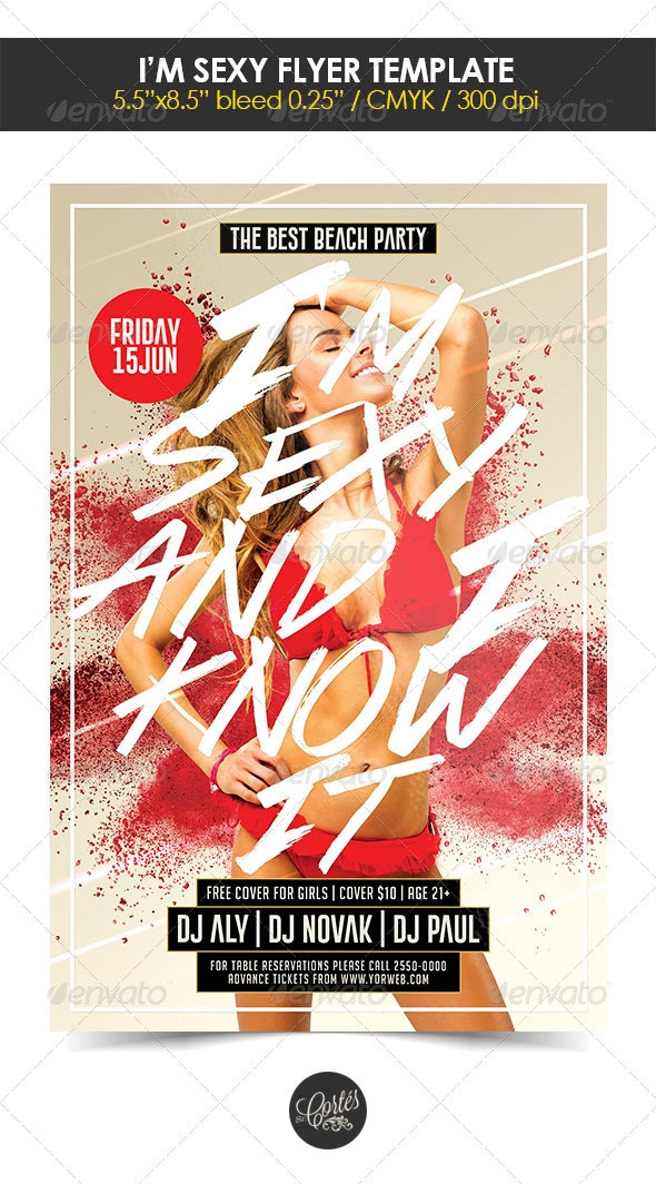 I'm Sexy Flyer Template - Events Flyers