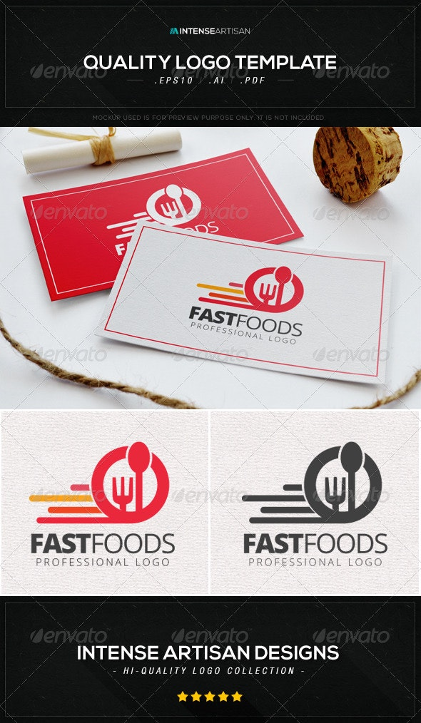 Fast Foods Logo Template - Food Logo Templates