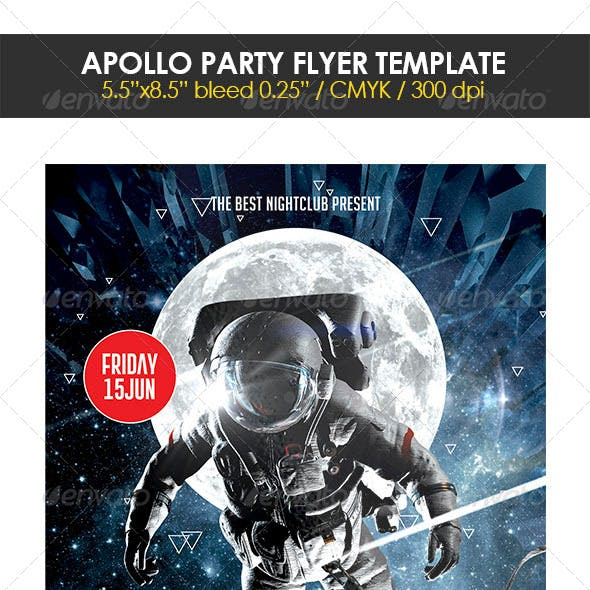 Apollo Party Flyer Template