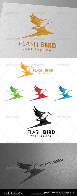 Flash Eagle Bird Logo - Animals Logo Templates
