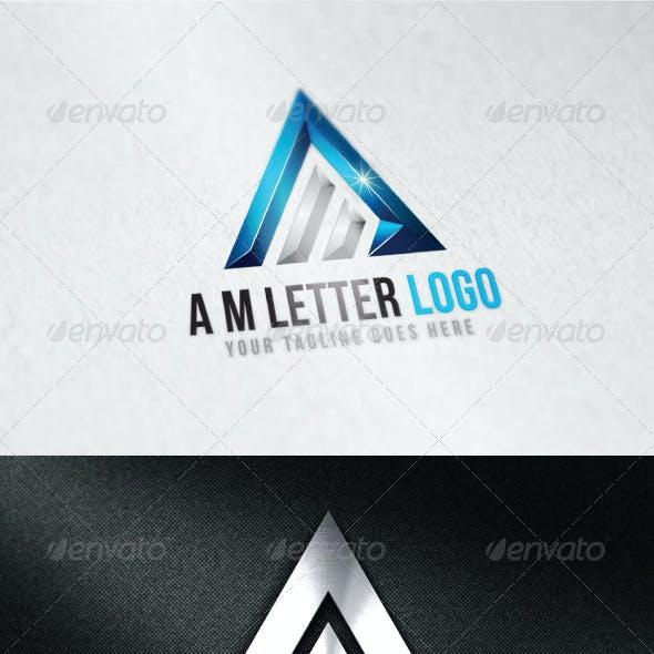 A M Letter Logo