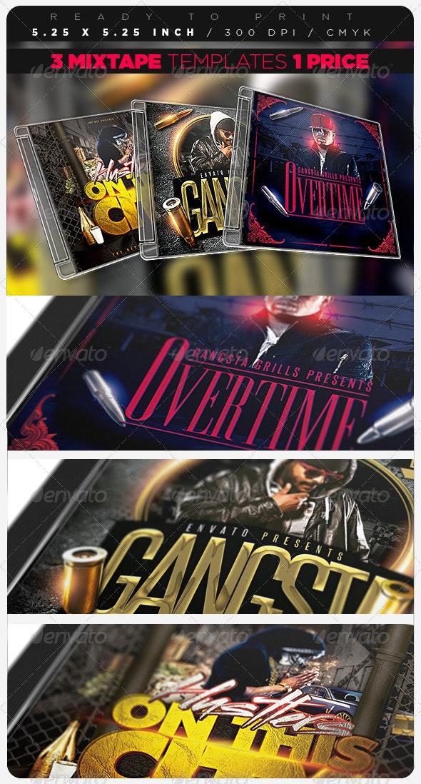 Mixtape Bundle Template - CD & DVD Artwork Print Templates