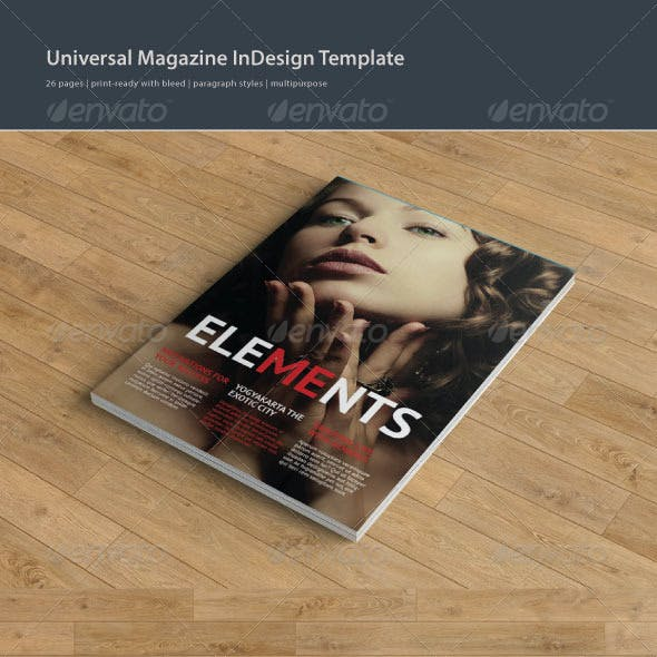 Elements Magazine Template