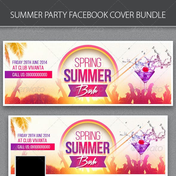 Summer Party FB Cover Bundle