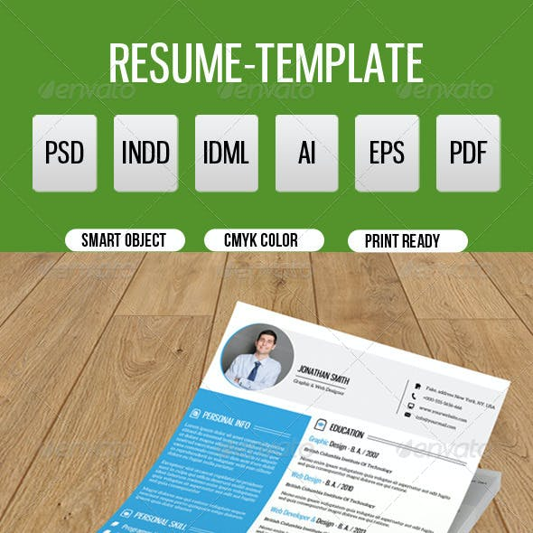 Clean Resume Template-V09