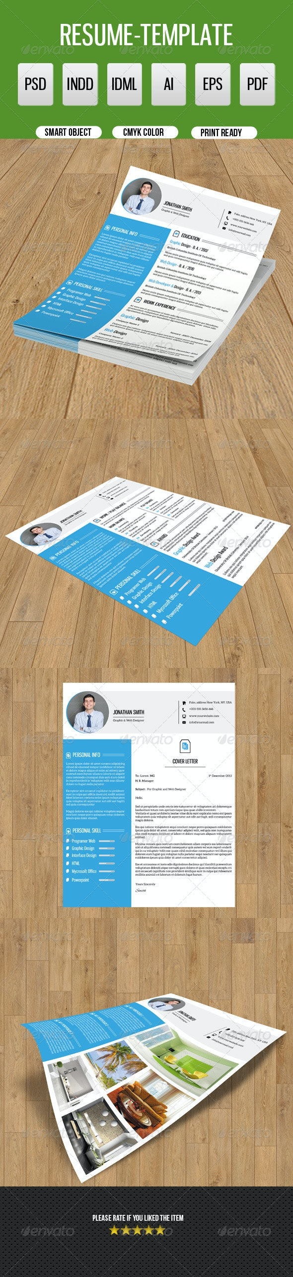 Clean Resume Template-V09 - Resumes Stationery