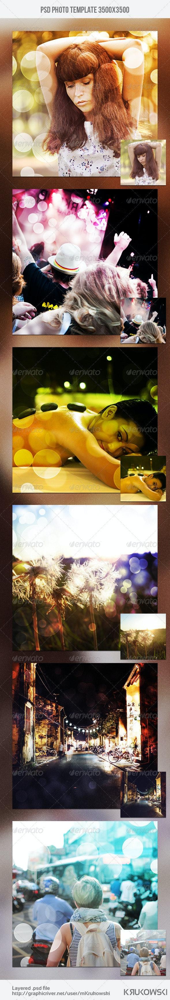 Bokeh Photo Template - Artistic Photo Templates