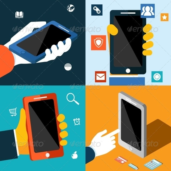 Smartphone with App Icons - Computers Technology