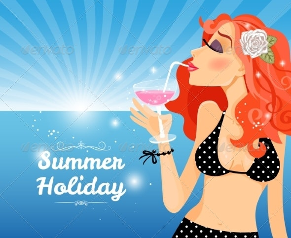 Summer Holiday Poster - Travel Conceptual
