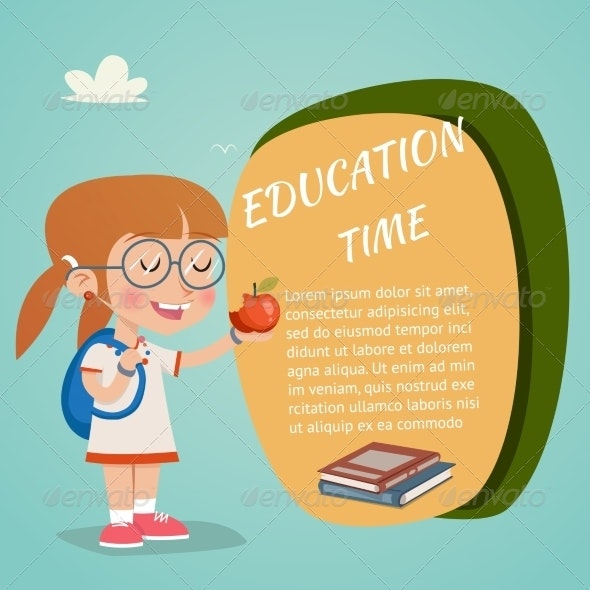 Colored Vector Education Poster - Miscellaneous Vectors