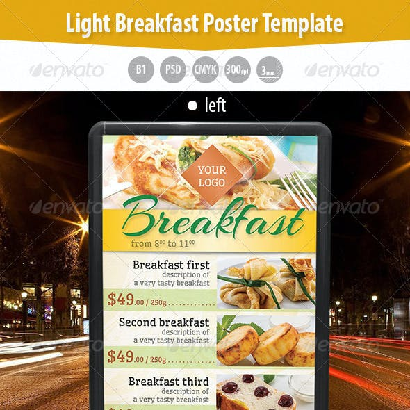 Light Breakfast Poster Template