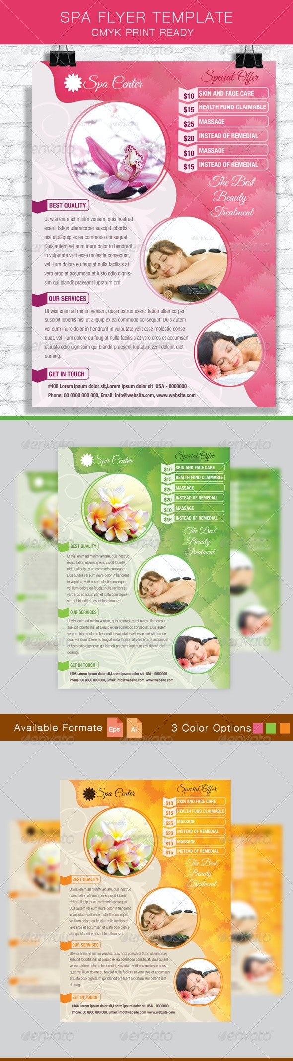 Spa Flyer Template - Commerce Flyers
