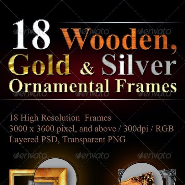 18 Hi-Res Ornamental Frames