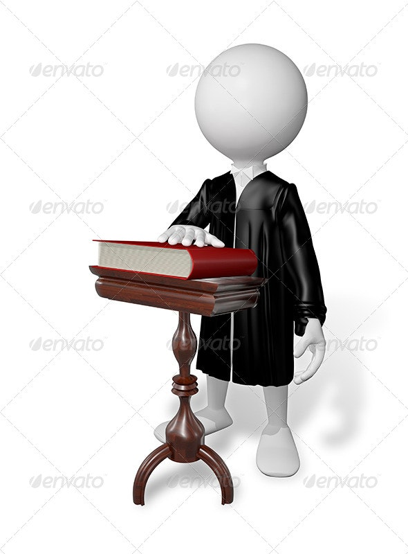 Man at a Table with a Book - Characters 3D Renders