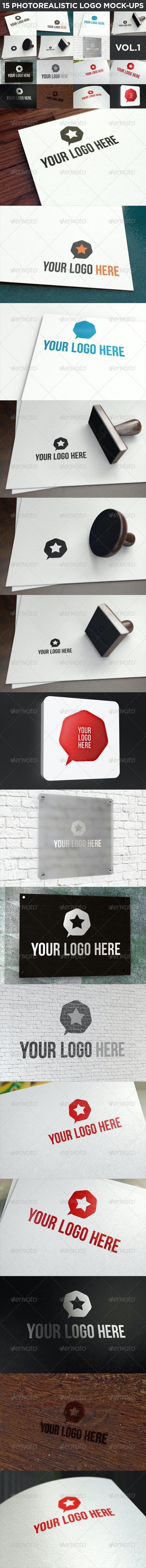15 Realistic Logo Mock-Ups Vol.1 - Logo Product Mock-Ups
