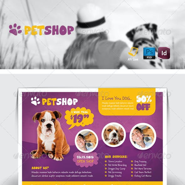Pet Shop Flyer Templates