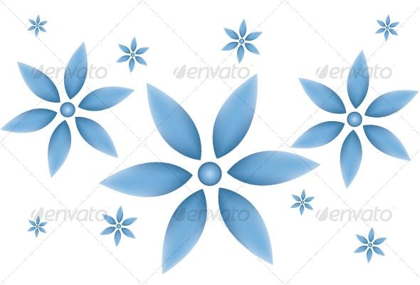 Blue Flower Vector illustration - Flowers & Plants Nature