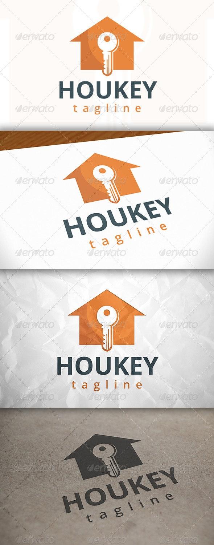 House Key Logo - Buildings Logo Templates