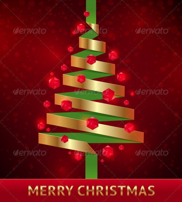 Decorative Paper Christmas Tree - Seasons/Holidays Conceptual